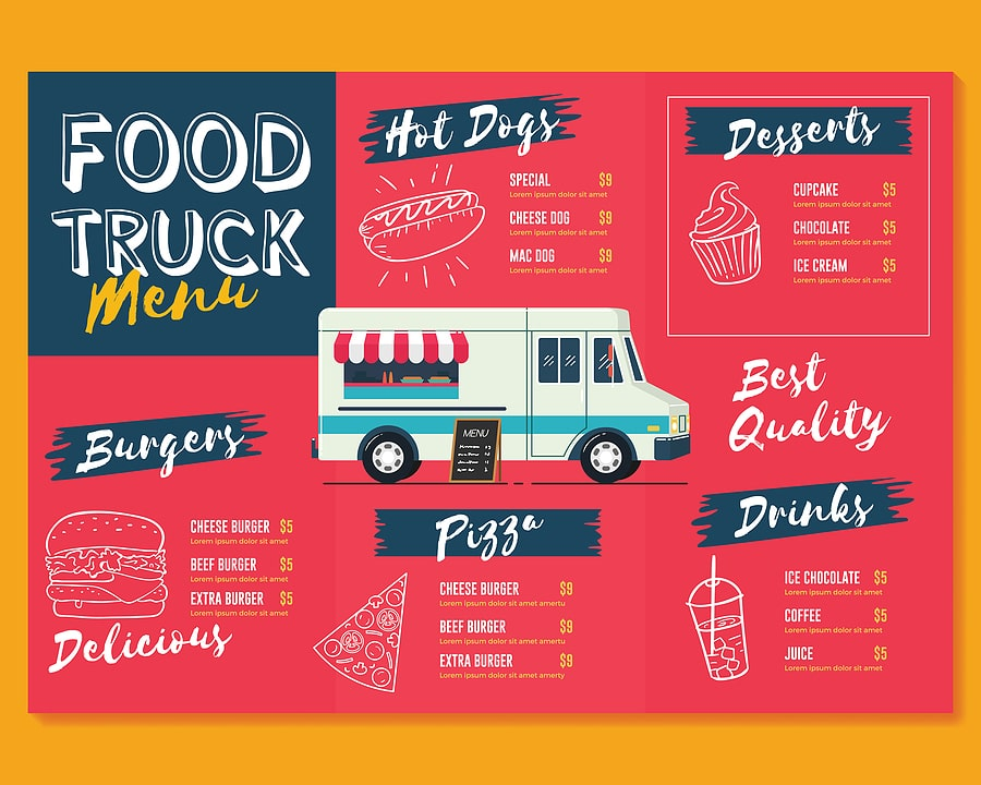 How Many Items Should Be On A Food Truck Menu
